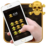 Hell Gold Skull AppLock Theme