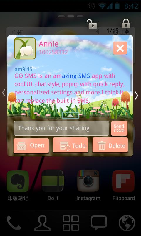 GO SMS PRO Spring SuperThemeEX
