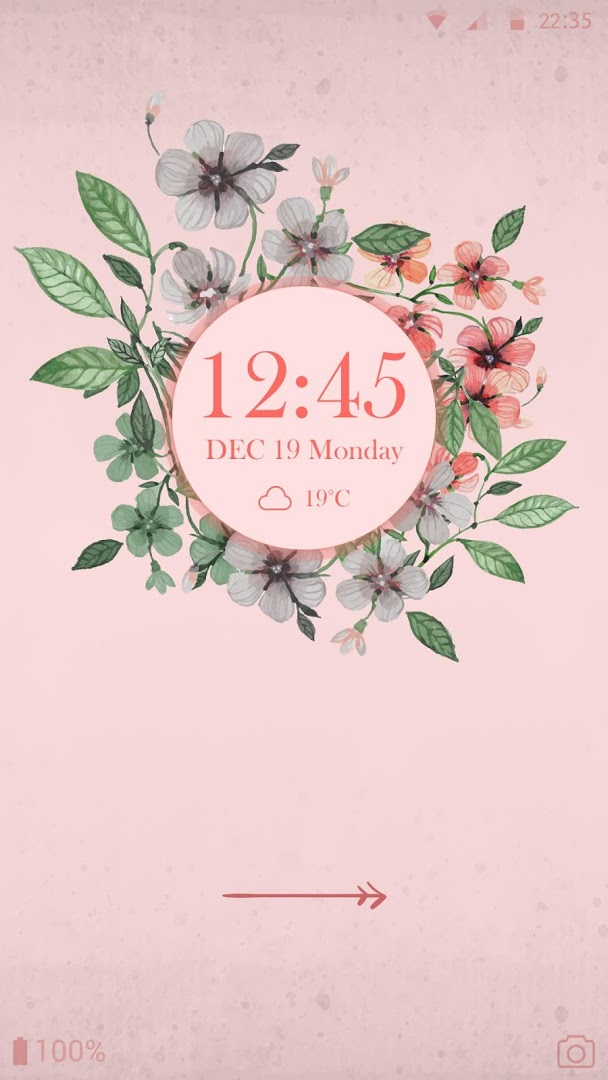 Vintage Flower CM Locker Theme