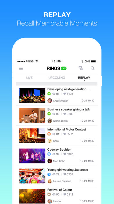 RINGS LIVE - Interactive Broadcasting Platform