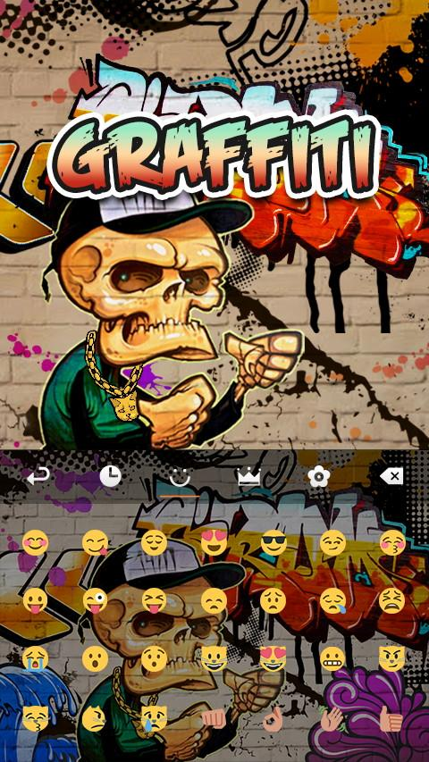 Retro Grafitti GO Keyboard Animated Theme