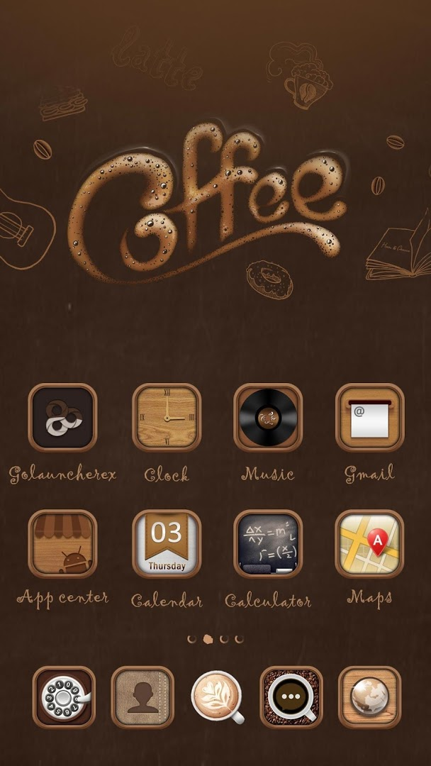 Best Coffee Go Launcher Theme