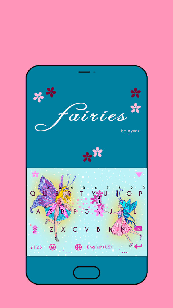 Fairies Emoji Keyboard Theme