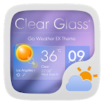 ClearGlass THEME GO WEATHER