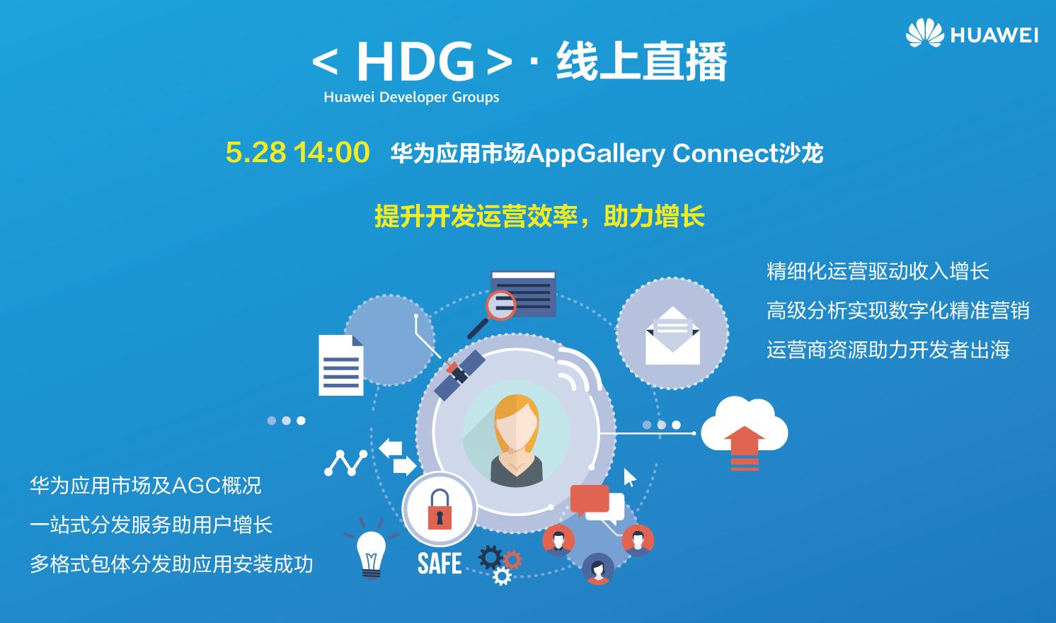 华为应用市场AppGallery Connect开发者沙龙—提升开发运营效率 助力增长(2020-05-28)