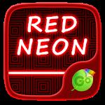 Red Neon GO Keyboard Theme