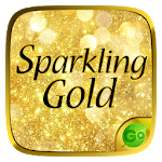Sparkling Gold GO Keyboard Theme